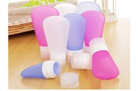 Wholesale 60ML Silicone Press Bottle Shampoo Shower Lotion Gel Sub bottling Squeeze Makeup Refillable Bottles Portable Travel Storage Containers Jars
