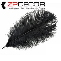 best table decorations - Retail and from ZPDECOR cm inch Best Quality Dyed Smooth Black Ostrich Feather for Wedding Table Decoration