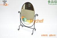 Wholesale Europe type restoring ancient ways Wrought iron make up mirror cosmetic mirror black make up mirror