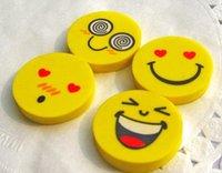 big erasers - Cute smiling face eraser emoji eraser smile lovely eraser funny face eraser smile style rubber Kids gift creative stationery