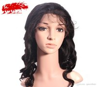 Wholesale ALi Queen Hair Brazilian Loose Wave Virgin Hair Wigs Unprocessed Virgin Brazilian Human Hair Full Lace Lace Front Wigs With Baby Hair