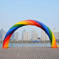 Wholesale by DHL26ft M inflatable Rainbow arch for Advertisement with blower v v