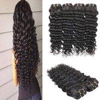 bell discounts - Grade A Malaysian Deep Wave Hair Bundles Malaysian Curly Human Hair Weaves Big Discount Bell queen Hair Products
