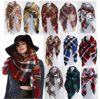 Wholesale 5pcs Lady Blanket Bulk Scarf Tartan Grid Plaid Scarves Christmas Party Cozy Wrap Shawl Multi Colored For Women Ladies Blogger Favorite