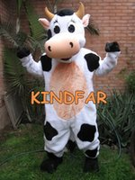 Wholesale PROFESSIONAL FARM DAIRY COW MASCOT COSTUME Fancy Dress Cartoon Character Outfit Suit