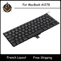 Wholesale Neuf French FRANCAIS FR AZERTY Clavier Keyboard with Backlit Backlight for MacBook Pro A1278