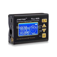 Wholesale LCD Digital Protractor Inclinometer TLL S Professional Dual axis Laser Level Tools Angle Meter High Accuracy