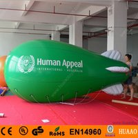 advertising blimps - Commercial m ft Giant Inflatable Advertising Blimp Inflatable Zeppelin Airship with Double Sided Logo Printing