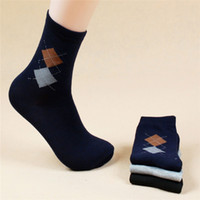Wholesale pairs Hot Sale new fashion brand quality men s socks rhombus Printing casual sports sock for men autumn winter socks