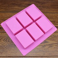 Wholesale pieces ml rectangle Silicone Soap mold FDA grade silicone sandwich cake molds Bakeware ems fedex