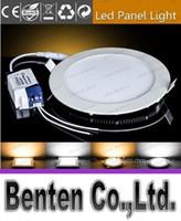 Wholesale Dimmable led round flat panel light W W W W W W W W W LED Ceiling Recessed Downlight Slim Round Panel Light LLFA