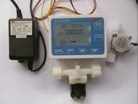 Wholesale G1 quot Water Flow Control LCD Display Flow Sensor Power Adapter Solenoid valve