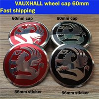 Wholesale 20pcs D MM MM automobile wheel hub center covers caps stickers with VAUXHALL car brands logo emblem badge