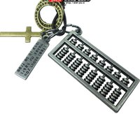 abacus gifts - In the latest abacus alloy pendant necklace length is adjustable leather factory price