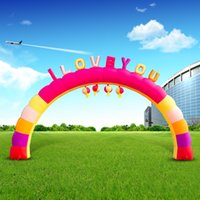Wholesale Wedding luminous arches inflatable arch D emitting door Glow
