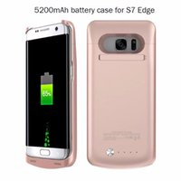accumulator battery charger - Xlot5200 mAh Power Case Li ion External Backup Battery Accumulator Charger Case Cover Pack Power Bank Cases Coque For Samsung Galaxy s7 edge