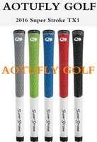 Wholesale Super Stroke TX1 golf grips New for driver irons good quality colors rubber clubs grip