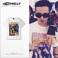 anti china shirts - Korean GD ins Clothing Pulp Fiction printed Tee shirts HEYBIG Swag Tops American Street Fashion T shirt Hiphop style China SIZE