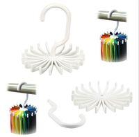 adjustable plastic shelving - Adjustable Hooks Rotating Belt Scarf Rack Organizer Men Neck Tie Hanger Holds Men Tie Storage holders