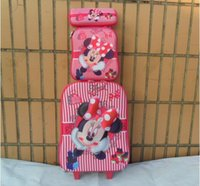Wholesale New Minnie inch luggage sets D travel suitcase wheel lunch box pen boxes trolley luggage EVA trolley case