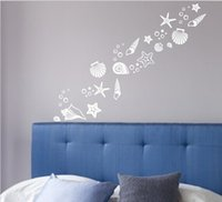 beach graphic - Beach themed room decor Set of fancy sea beach shell wall decals vinyl sea shell wall stickers