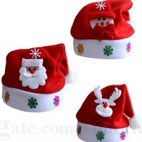 Wholesale Kids Christmas Xmas Hats Red Christmas Cosplay Hats Santa Clause Snowman Caps Christmas Decoration Hats New Year Festival Decorations D121