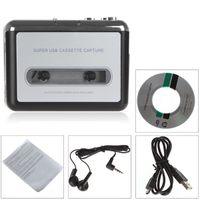 achat en gros de cassettes auto-Lecteur cassette portable USB portable à cassette-rétro-stéréo-hi-fi-méga convertisseur de cassette avec transfert d'écouteurs EGS_033