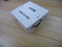 Wholesale New Mini USB P HDMI To VGA Audio Video HDTV Converter Full HD p HDMI To VGA Adapter For PC Laptop to