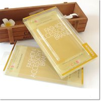 Wholesale 2016 hot selling gold color PVC cellphone package universal retail pack for cellphone case less than inch dhl