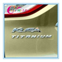 Wholesale 3D car logo TITANIUM style High profile Top Configuration Trailer Alphabet Word stickers for Ford kuga Mondeo ecosport fiesta