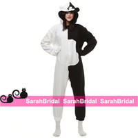 animal games for boy - Black and White Bear Anime Cosplay Party Costumes Comfy Animal Outfit Onesies Pajamas Jumpsuits for Sale Hooded Girls Boy Homewear Sleepwear