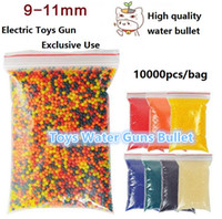 Wholesale 10000 bag Colorful Crystal Bullet Soft Water Gun Paintball Bullet Bibulous Bullet mm Gun Toy Accessories