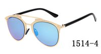 aviator goggles for sale - Classic Retro Aviator Sunglasses Cool Double Brigde Cop Eyewear For Sale Colored Mirror Lens Metal Frame Sun Glasses