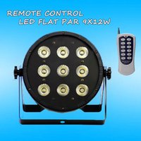 active noise control - Wireless remote control x12W LED Flat SlimPar Quad Light RGBW in1 LED DJ Wash Light Stage Uplighting No Noise