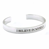 african quotes - Eosmer stamped inspiring copper bracelet sterling silver plated I believe in myself Encouraging quote Inspiring gift bracelet free