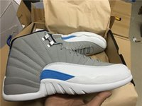 Wholesale 2016 new Air RETRO Men Basketball Shoes Wolf Grey blue sports sneakers drop shipping hot sale size us eur