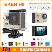 EKEN H9 Ultra HD 4K caméra vidéo d'action 170 degrés grand angle caméra sports 2 pouces écran LCD WIFI HDMI 1080p 60fps étanche