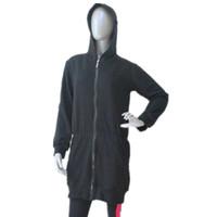 ballet jacket - Dance Top Black Flannel Long Hoodie Jacket Dance School Uniform Custom Logo for Girls and Women Available