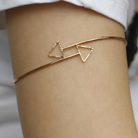 arms of love - Fashion Women The Arrow Of Love Upper Arm Cuff Armlet Armband Golden Silver Open Bangle Adjustable Bracelet