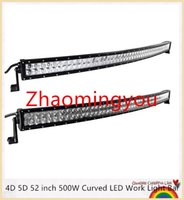 Wholesale 4D D inch W Curved LED Work Light Bar for Tractor Boat OffRoad WD x4 Truck SUV ATV Spot Flood Combo Beam V v
