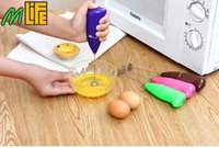 beaters plastics - 2016 NEW Stainless Steel Cooking Tools Egg Beater Electric Handheld Milk Frother Foaming Blender Maker Whisk Gadget Kitchen Accessories