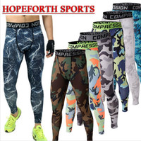 Wholesale Sport Camo Cargo Pants - Camo Mens Compression Pants Leggings Jogging Running Base Layer Fitness Trousers Tights Sport Training Gym Wear ydical