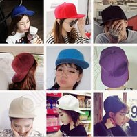 baseball shades - Blank Plain Baseball Snapback Hats styles Cotton Adjustable Baseball Cap Blank Solid Hat Hip Hop Cap sun shade Hat OOA473