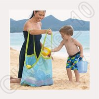 beach towel in bag - 50pcs CCA4080 High Quality Extra Large Sand Away Beach Mesh Bag Children Beach Toys Clothes Towel Bags Baby Toy Collection Bag IN stock
