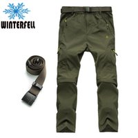 Wholesale Men s Outdoor Waterproof Quick Dry Pants Removable Stretch Trousers Running Camping Mountain Climbing Sport Pants CavalayWolf