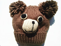 big bear winter - bear wool cm headwidth newborn to year baby winter warm unisex knit softer beanie knit hat cuff hat cute hat with big Pom Pom