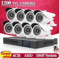 Cheap HD video surveillance sony 1200tvl IR CUT Outdoor Waterproof Security Camera System 8Channel CCTV 1080N DVR system DVR kit