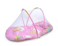 Wholesale Portable Folding Baby Crib Mosquito Net with A Pillow Creative Home Folding Baby Mosquito Net Maternal and Infant Supplies
