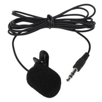 Wholesale 3 mm Hands Free Clip On Mini Lapel Mic Microphone For PC Notebook Laptop New