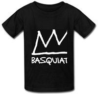 O -neck basquiat prints - pretty cool Basquiat Crown Printed Cotten O neck T Shirt Men White or black or Black